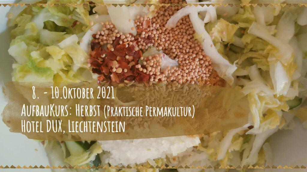 Aufbaukurs: Herbst (Praktische Permakultur), Hotel Dux, Liechtenstein 8. - 10. Oktober 2021