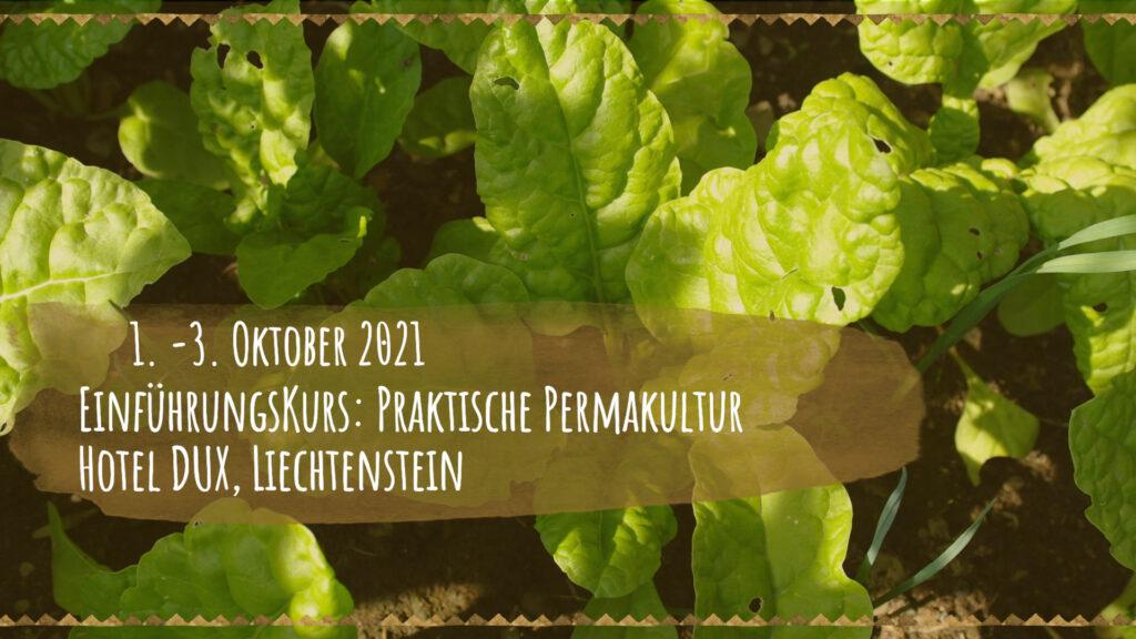 Einführungskurs: Praktische Permakultur, Hotel Dux, Liechtenstein 1. - 3. Oktober 2021